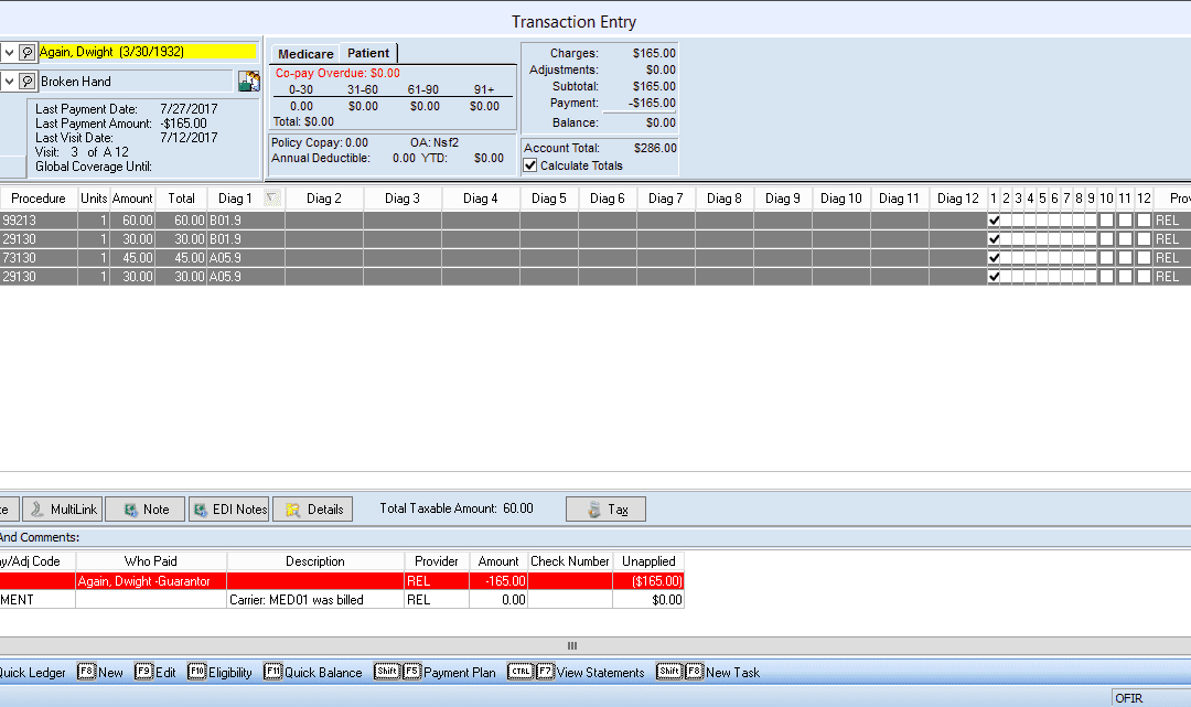 How To Enter An Adjustment Entry In Medisoft
