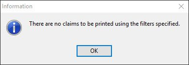 No Claims to be Printed
