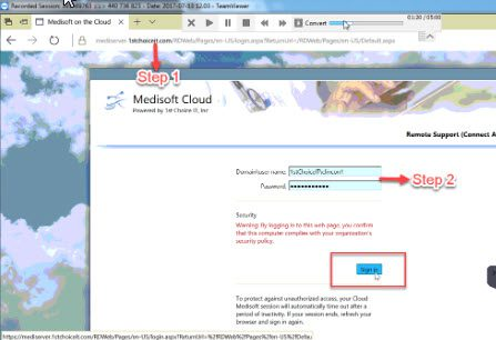 How to update a new password in Medisoft Cloud