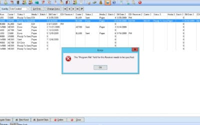 How To Fix A Program File Error When Sending Claims In Revenue Management